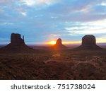 monument valley  arizona utah ... | Shutterstock . vector #751738024