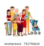 big family | Shutterstock .eps vector #751740610