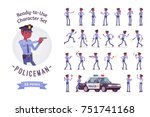 policeman ready to use... | Shutterstock .eps vector #751741168