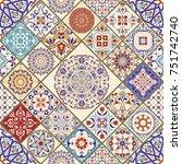 seamless ceramic tile with... | Shutterstock .eps vector #751742740