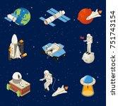 Isometric Space Elements Set...