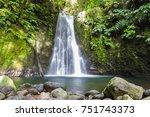 salto do prego waterfall  ... | Shutterstock . vector #751743373