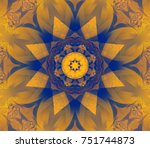 abstract decorative colored... | Shutterstock . vector #751744873