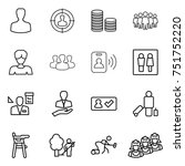 thin line icon set   man ... | Shutterstock .eps vector #751752220