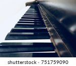 piano keys close up from the... | Shutterstock . vector #751759090
