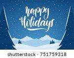 vector illustration  hand drawn ... | Shutterstock .eps vector #751759318