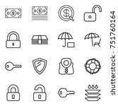 thin line icon set   money ... | Shutterstock .eps vector #751760164