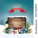 christmas holiday background... | Shutterstock .eps vector #751762093