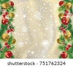 elegant gold christmas... | Shutterstock .eps vector #751762324