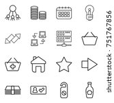 thin line icon set   share ...