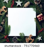 creative frame of christmas... | Shutterstock . vector #751770460