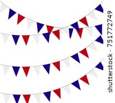 festive bunting flags. holiday... | Shutterstock .eps vector #751772749