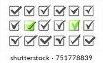 v logos collection. validation... | Shutterstock .eps vector #751778839