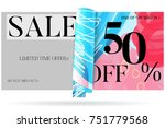 sale advertisement banner on... | Shutterstock .eps vector #751779568
