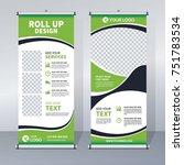 roll up sale banner design...   Shutterstock .eps vector #751783534