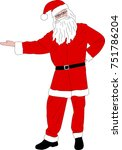 santa claus illustration  ... | Shutterstock .eps vector #751786204