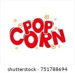logo pop corn   Shutterstock .eps vector #751788694