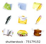 universal icon set  high... | Shutterstock .eps vector #75179152
