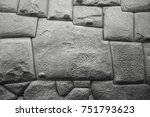 Black and white photograph of the famous twelve angle stone in the Hatun Rumiyoc street,  Cusco, Peru. This perfect stonework can be found in other Inca sites as Machu Picchu, Sacsayhuaman, Pisac...