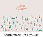 beautiful vector 'merry... | Shutterstock .eps vector #751793839