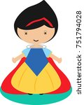 snow white drawing | Shutterstock .eps vector #751794028