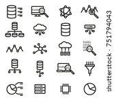 simple set of big data ... | Shutterstock .eps vector #751794043