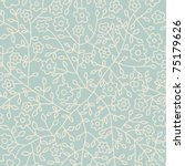 seamless floral pattern.endless ...   Shutterstock .eps vector #75179626