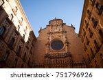 santa maria de montserrat is a... | Shutterstock . vector #751796926