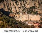 santa maria de montserrat is a... | Shutterstock . vector #751796953