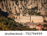 santa maria de montserrat is a... | Shutterstock . vector #751796959