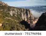 santa maria de montserrat is a... | Shutterstock . vector #751796986