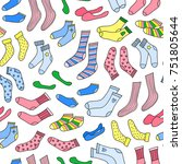 seamless pattern with different ... | Shutterstock .eps vector #751805644