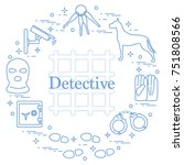 criminal and detective elements.... | Shutterstock .eps vector #751808566