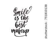 inspirational quote smile is... | Shutterstock .eps vector #751810138