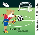 animal soccer cartoon vector