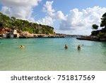 cala llombards on mallorca...   Shutterstock . vector #751817569