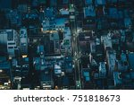 tokyo streets at night as seen...   Shutterstock . vector #751818673