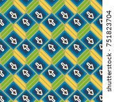 seamless abstract pattern with... | Shutterstock .eps vector #751823704