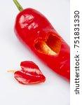 heart shaped pepper | Shutterstock . vector #751831330