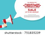 santa claus's hand holding... | Shutterstock .eps vector #751835239