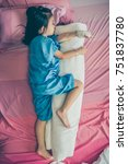 top view. full body of illness... | Shutterstock . vector #751837780