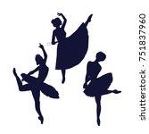 ballerina silhouette isolated... | Shutterstock .eps vector #751837960