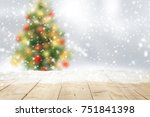 wooden table place. space for... | Shutterstock . vector #751841398
