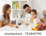 family  eating and people... | Shutterstock . vector #751845790