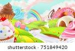 cupcake  fairy cake. sweet... | Shutterstock .eps vector #751849420