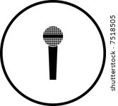 microphone symbol | Shutterstock .eps vector #7518505