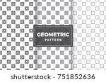 geometric pattern set. simple ...   Shutterstock .eps vector #751852636