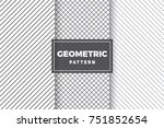 geometric pattern set. simple ... | Shutterstock .eps vector #751852654