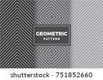geometric pattern set. simple ... | Shutterstock .eps vector #751852660