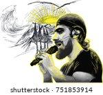 an hand drawn vector...   Shutterstock .eps vector #751853914